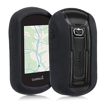 kwmobile Funda para Garmin eTrex Touch 25/35 - Carcasa de [Silicona] para navegador GPS de Ciclismo - Cover [Negro]