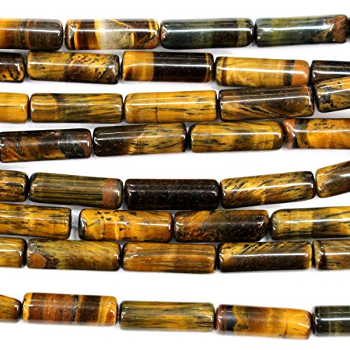 Natural barrel shape 4*13mm Gemstone Jewelry Making Loose Beads for jewelry making (Tiger's eye)