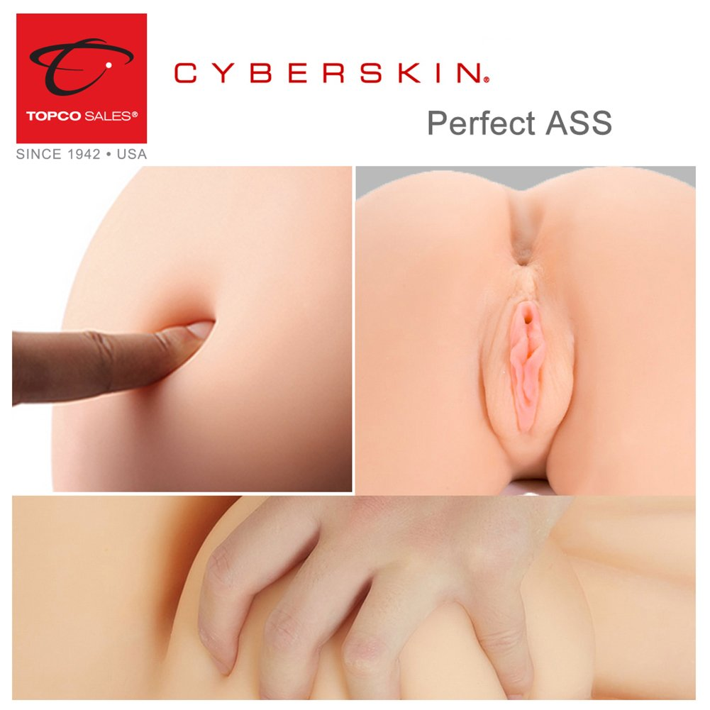 Anniversary Gag Gift Perfect Ass and One Pack of Trojan Reservior Premium Latex Condom by CyberSkin