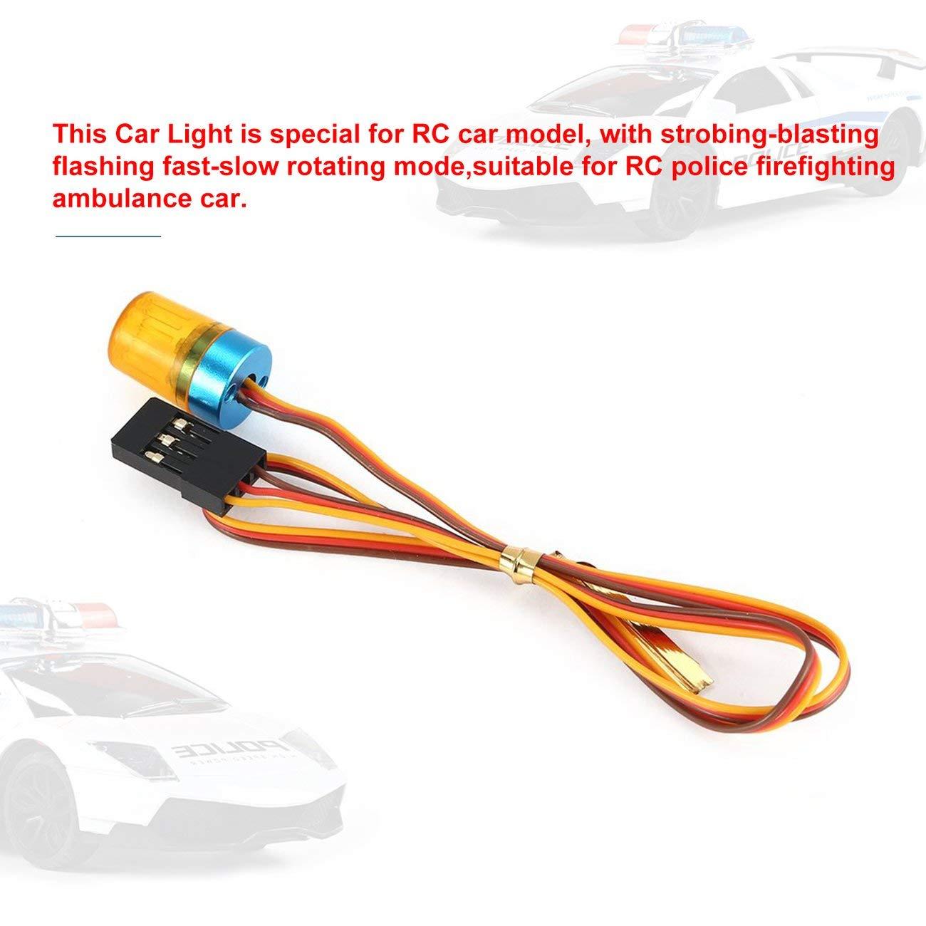 Baoblaze Luci Di Stop Lampade LED Di Alta Qualit/à Illuminazione Di Direzione Per Radio RC Accessori Per Auto giallo