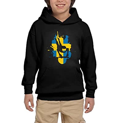 GYkl Cloth Sweden Flag Sled Youth Casual colorful Sweatshirts Long Sleeve Graphic Hoodies Sweatshirt