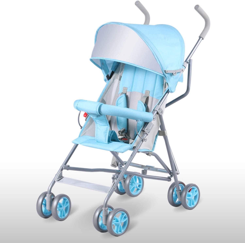 AIBAB Cochecito De Bebé Ultra-Ligero Portátil Puede Sentarse Medio Mentira Infantil Amortiguador Carretilla Plegable De Mano Multifunción