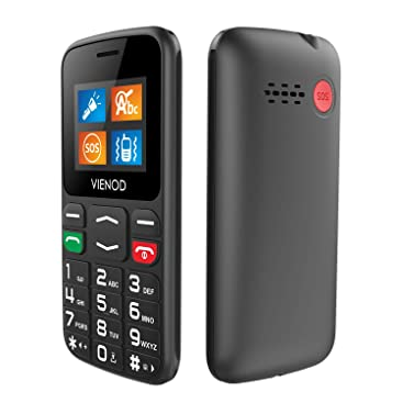 VIENOD V105 2G Telefono Cellulare per Anziani con Tasti