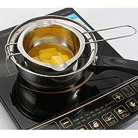 Olla de acero inoxidable para fundir chocolate con doble caldera para leche, mantequilla y dulces, herramientas para…
