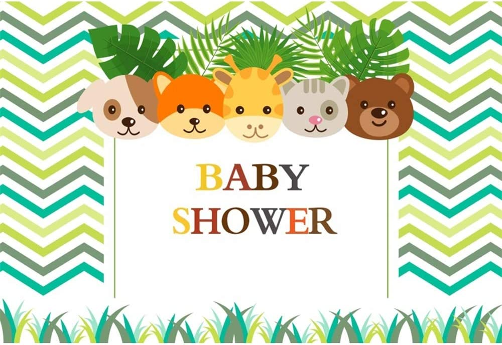 Yeele Baby Shower Backdrop 10x6.5ft Cute Animals Head Photography Backdrop Party Banner Newborn Baby Artistic Portrait Event Decor Room Decoration Photo Booth Studio Props