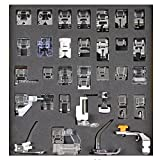 Tinksky 32pcs Domestic Sewing Machine Presser Foot Set for Brother Babylock New Home Janome Elna Toyata Singer NewHome