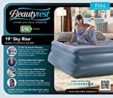 Simmons Beautyrest Queen 19'' Sky Rise Raised Pillow top Air Bed Mattress with Pump, MM01917QN (Certified Refurbished)
