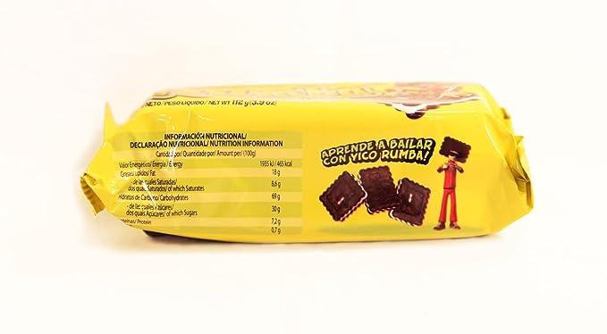 Galletitas RUMBA de BAGLEY. Galletitas Dulces rellenas sabor a Chocolate con relleno sabor coco.: Amazon.es: Alimentación y bebidas