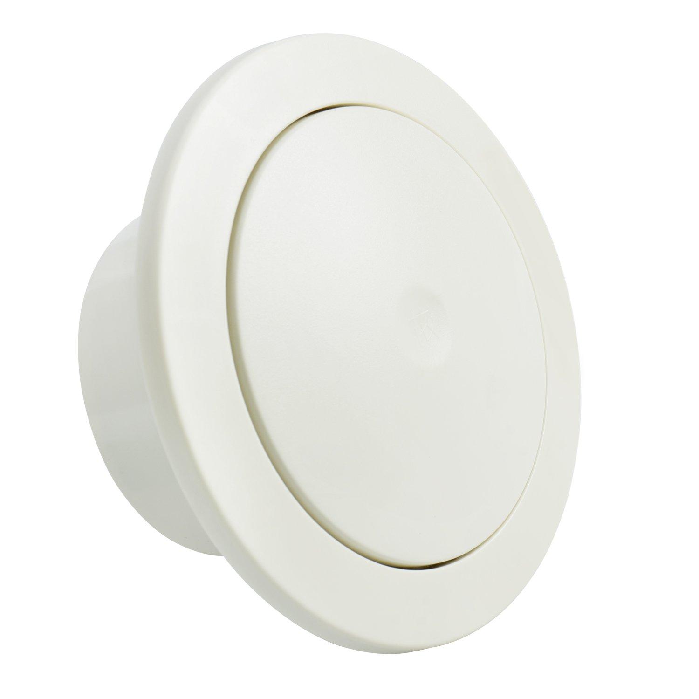 Hon&Guan ABS Griglia Ventilazione Rotonda Regolabile - Maglia Filtro Incorporata e Silenziatore in Cotone (ø 100mm)