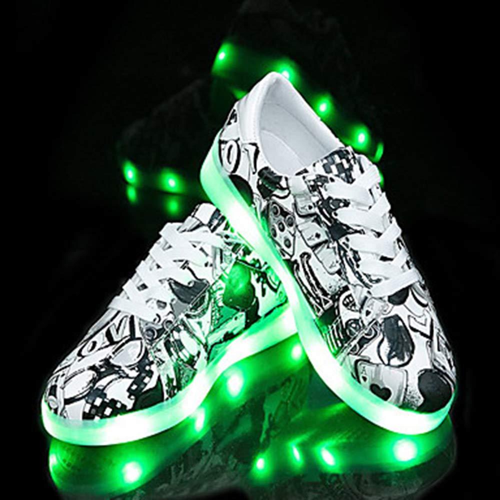 TTSHOES pour Femme Chaussures Talon PU Printemps (polyuréthane) Bout Printemps Light Up Chaussures Sneakers Plat Talon Bout Rond Noir/Vert Noir 56f74b1 - robotanarchy.space