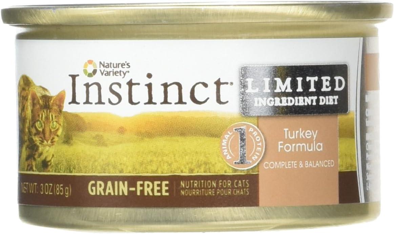 Nature's Variety Instinct LID Grain Free Canned Cat Food - Turkey - 3 oz - 24 ct