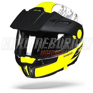 Schuberth E1 Crossfire amarillo blanco negro, aventura, casco de moto, ...