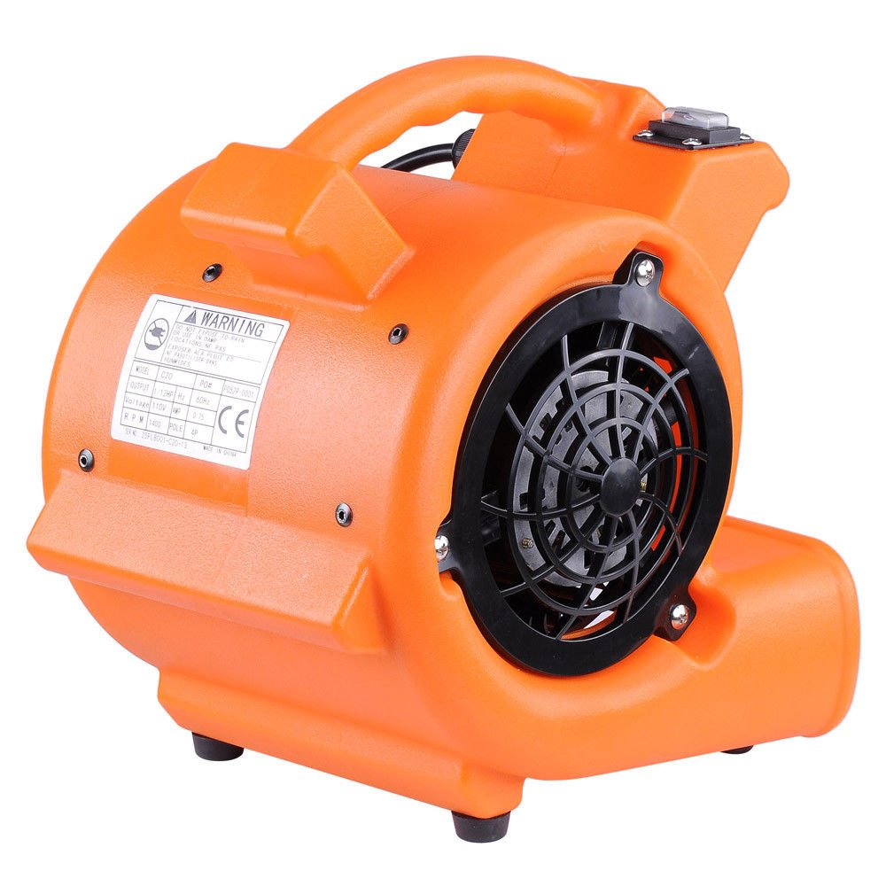 WealthyPlaza Carpet Dryer Air Mover Blower Commercial Floor Drying Industrial Fan 349CFM CE Certified Power Speed