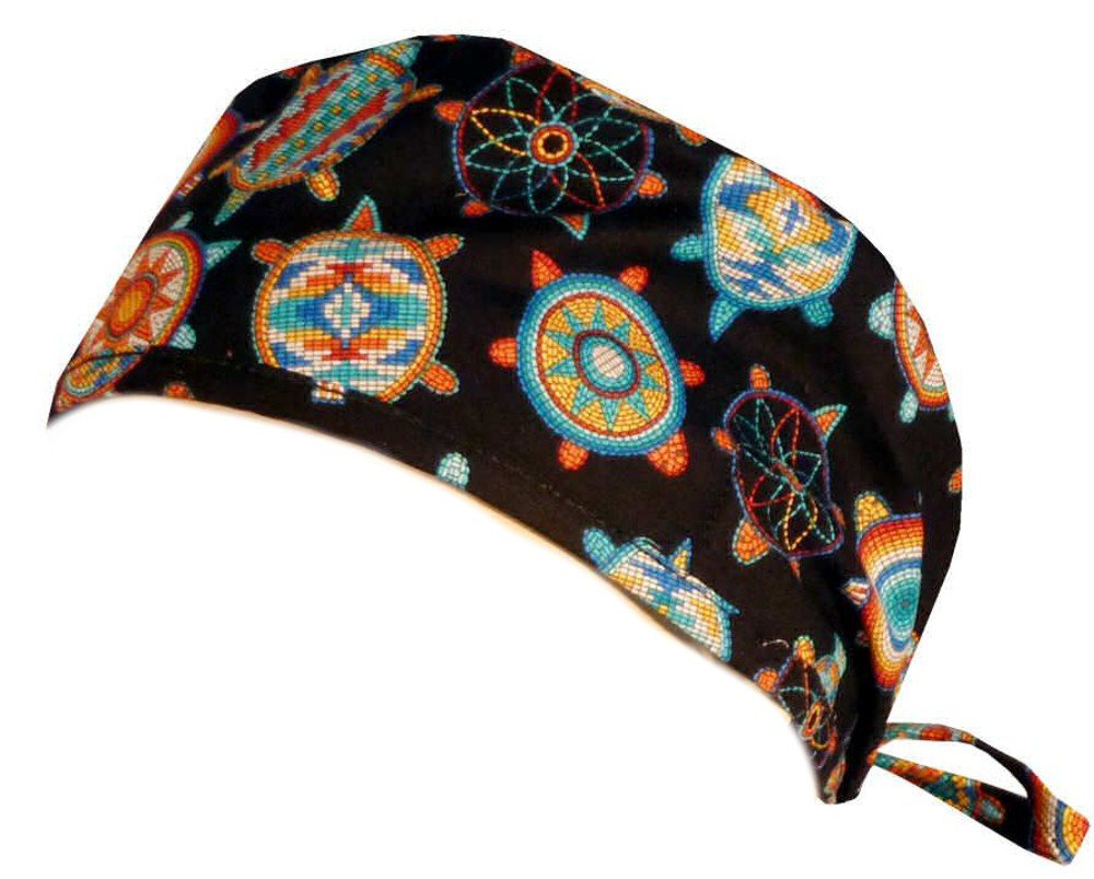 Sparkling Earth Mens and Womens Surgical Scrub Cap - Beaded Turtles #2