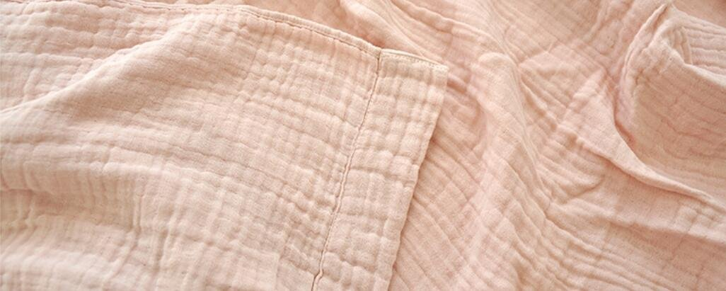 LAGHCAT Boys & Girls Cotton Muslin Quilt Comforter Bedding Coverlet, 4 Layers 100% Cotton Gauze Throw Blanket, Lightweight Bed Blankets for Adult/Kid's Bedroom (Pink, 63''x87'') by LAGHCAT (Image #4)