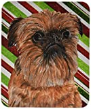 Caroline's Treasures Brussels Griffon Candy Cane Christmas Mouse Pad/Hot Pad/Trivet (SC9614MP)