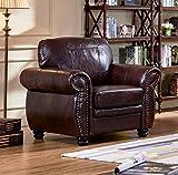 SC Furniture Ltd Burgundy Leather Sofa Suite HIGHBURY (Armchair)