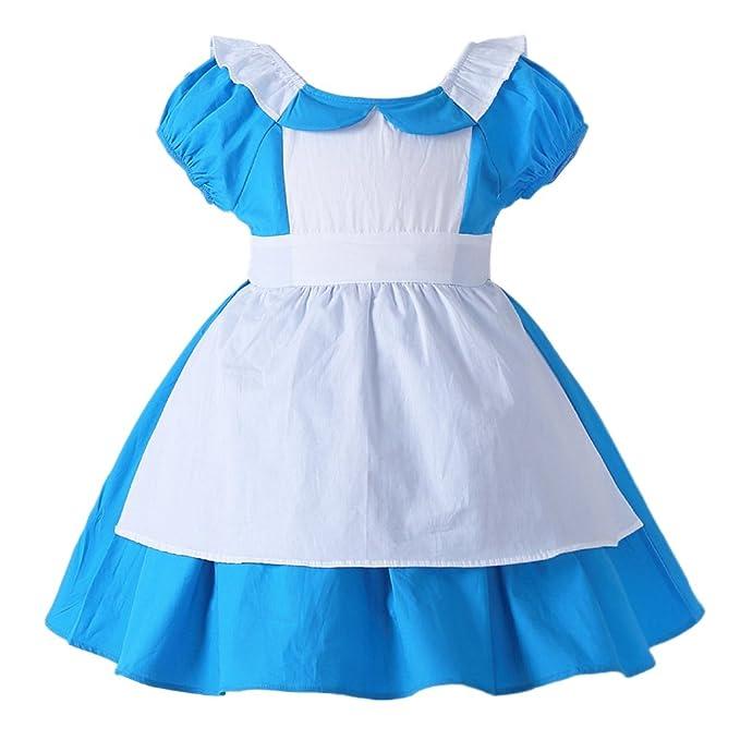 Amazon.com: JiaDuo Disfraz de princesa Alice para niñas, de ...