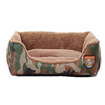 HyPheon Cama cálida para perro, camuflaje, Nido Oxford, caseta ultra suave, impermeable, lavable, casa para mascotas: Amazon.es: Productos para mascotas