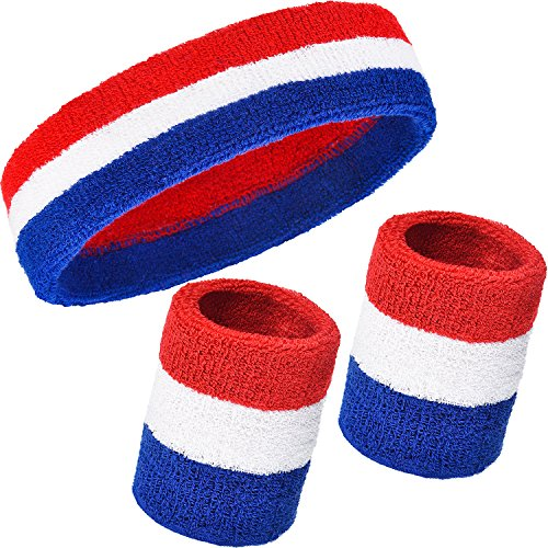 WILLBOND 3 Pieces Sweatbands Set, Includes Sports Headband