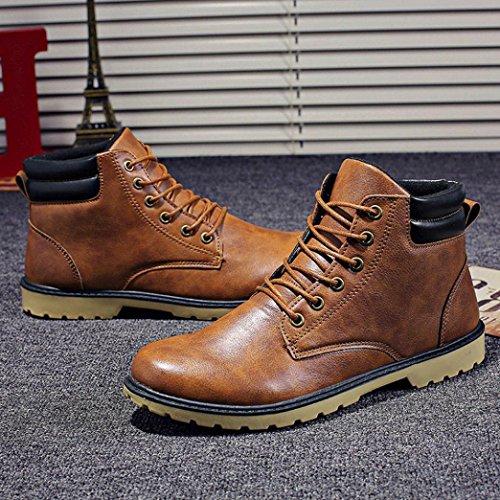 Los Shoes Botas Martin De Invierno Plano Tobillo Del Otoño Amarillo El Hombres Casual Recortar Bajo Landfox dBq6wd