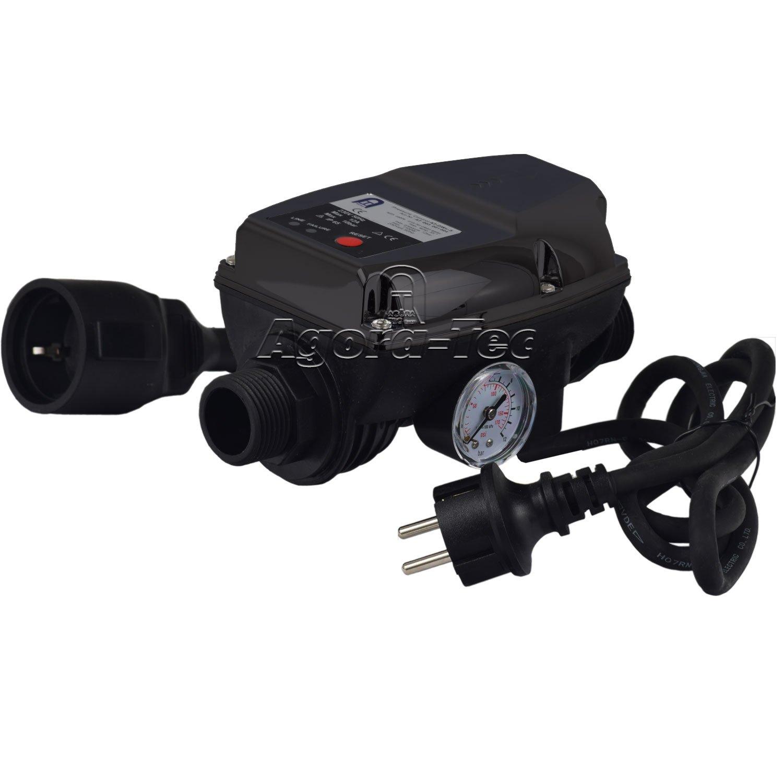 Agora-Tec AT003001004 AT-DWv-5 Pressostat pour pompe avec câble pour la commande de pompes centrifuges et immergées Pression de fonctionnement 10bar AT 003 001 004