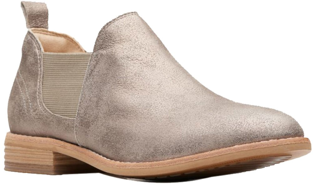 CLARKS Women's Edenvale Page Fashion Boot B078D7MHLD 100 M US|Pewter Suede
