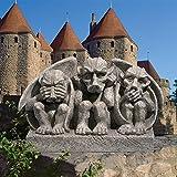 Design Toscano See, Hear, Speak No Evil Gargoyle Trio Statue, Greystone