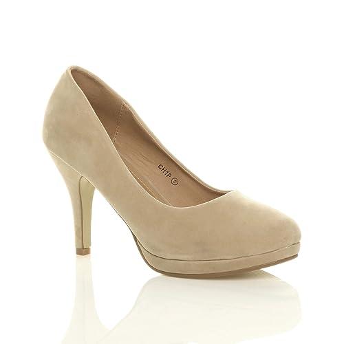 ca18540d Zapatos de tacón mediano, perfectos para fiestas, muy elegantes: Amazon.es:  Zapatos y complementos