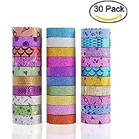 Yexpress Glitter Washi Masking Tape Set of 30 Rolls -...