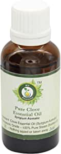 Clove Essential Oil   Syzgium Aomatic   Clove Oil   Clove Bud Oil   For Teeth   For Skin   For Cooking   100% Pure Natural   Steam Distilled   Therapeutic Grade   10ml   0.338oz By R V Essential