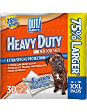 OUT! Heavy Duty XXL Dog Pads   Absorbent Pet Training and Puppy Pads   30 Pads   26 x 30 Inches