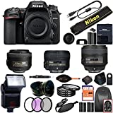 Nikon D7500 DSLR Camera With 18-140mm ED VR Lens - Includes Manufacturer Supplied Accessories (35mm + 50mm + 85mm Prime Lens f/1.8, Advanced Bundle)