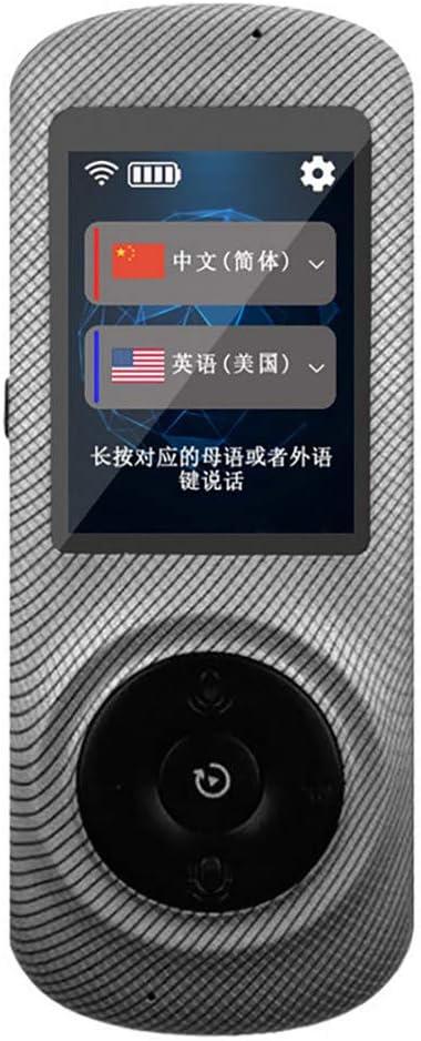 tragbarer Zwei-Wege-Sprach/übersetzung in Echtzeit Unterst/ützung f/ür 52 Sprachen f/ür Auslandsreisen,Black Qualilife Sprach/übersetzer mit 2,4-Zoll-Touchscreen