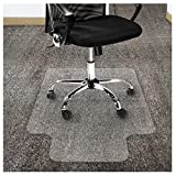 Office Marshal Polycarbonate Chair Mat with Lip for High Pile Carpet Floors, 36""