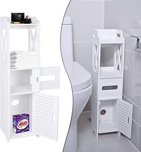 Small Bathroom Storage Toilet Paper Storage Corner Floor Cabinet With Shelves And Doors Bathroom Storage Organizer Furniture Corner Shelf For Book Toilet Paper Shampoo Botany 26 7wx6 3lx6 3d Amazon Ca Home Kitchen