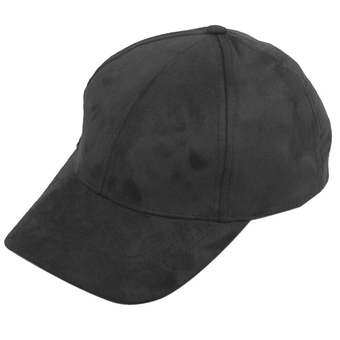 db71ec40474ceb Amazon.com: Faux Suede Solid Baseball Cap Adjustable Black: Clothing
