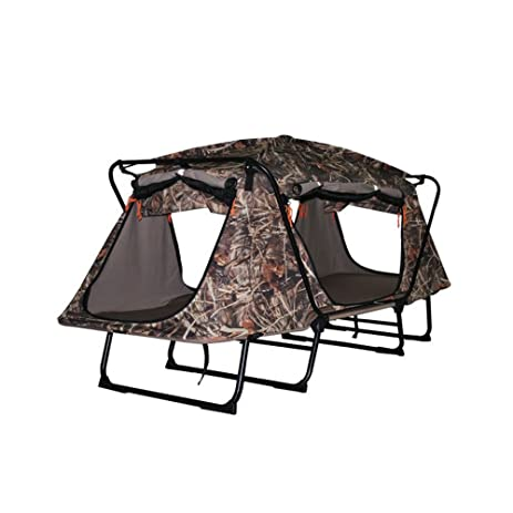 Tent Cot Elevated C&ing Tent TOPIND Camouflage Hunting Tent Folding Waterproof 1-2 Person Oversize  sc 1 st  Amazon.com & Amazon.com: Tent Cot Elevated Camping Tent TOPIND Camouflage ...