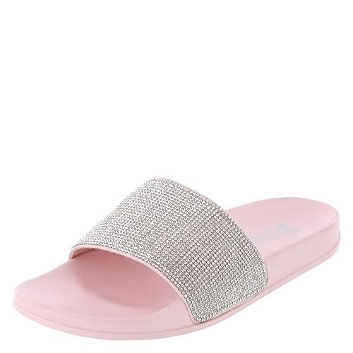 58b0b73b8042 Amazon.com | Brash Women's Sparkles Pool Slide | Shoes