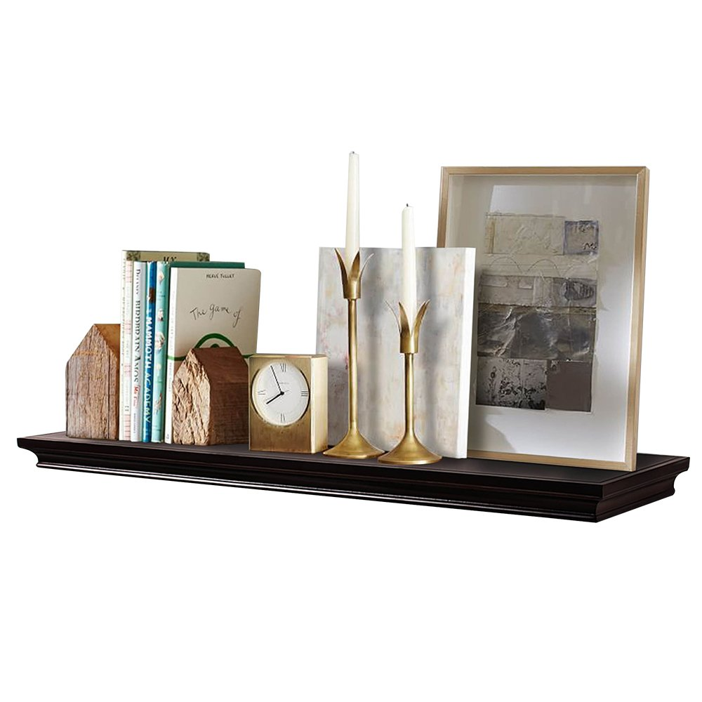 AHDECOR Deep Floating Shelves Display Ledge Shelf with Invisible Blanket (36 in, Espresso Brown)