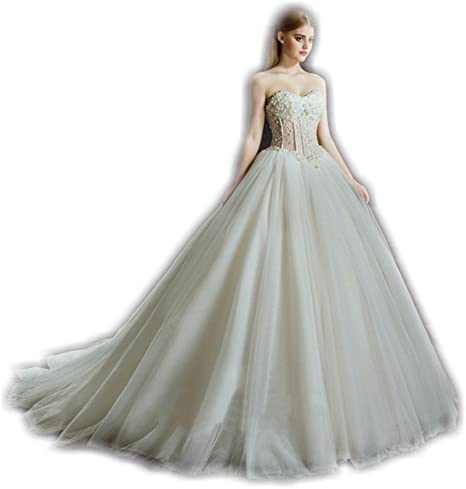 Wd 001 Elegant Soft Tulle Ball Gown Wedding Dress With Sweetheart