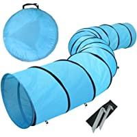 chiluer Pet Tunnel Toy18 Agility Training Tunnel Pet Dog Play Outdoor Obedience Exercise Equipment Blue