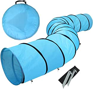 Yaheetech 18ft Pet Dog Agility Obedience Training Tunnel Blue - Dia.24