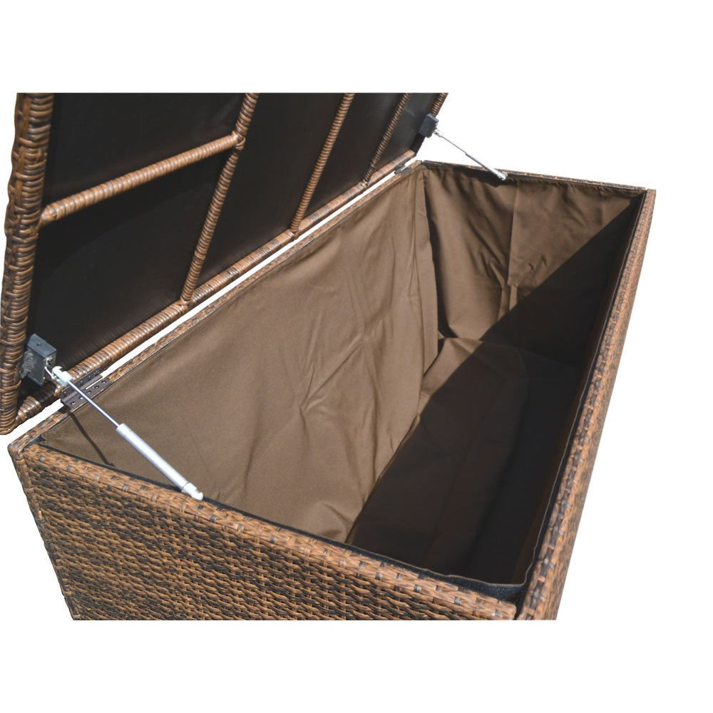 Style 2 ESPRESSO 64'' x 30'' x 30'' Large Wicker Storage Box Chest Deck Poolside Storing Patio Case by Generic (Image #6)