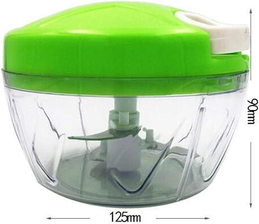 Picador de alimentos manual de 500 ml, batidora de mano/licuadora ...