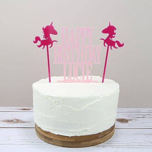 Unicorn Birthday Cake Topper Amazoncouk Handmade