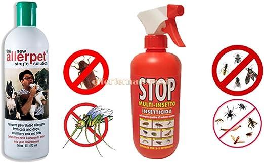 Allerpet® - Spray insecticida anti-ácaros, 375 ml - Ideal para combatir las alergias a los animales como perros y gatos: Amazon.es: Hogar