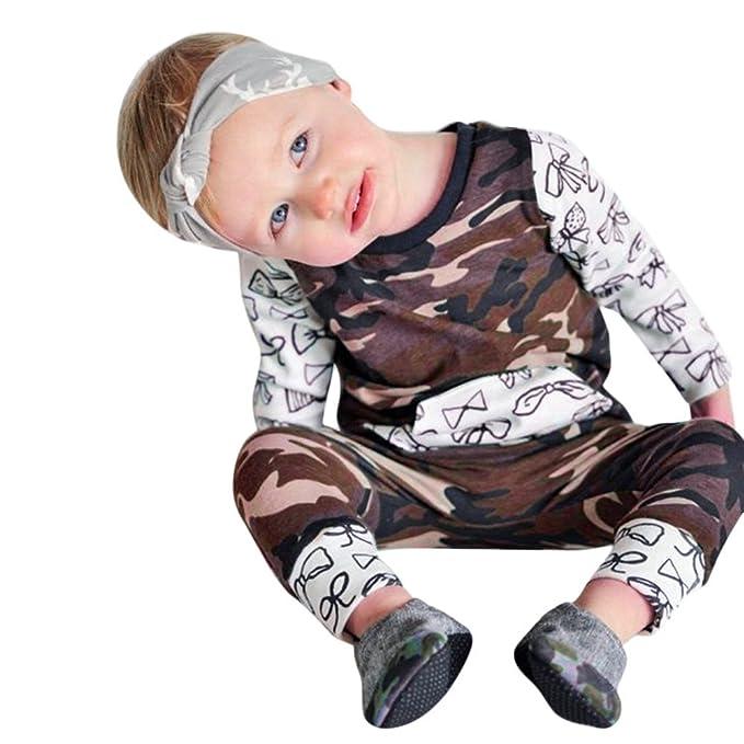 YanHoo Ropa para bebés Traje de otoño e Invierno Camuflaje Empalme Mameluco Mono Ropa de Traje Mono de Camuflaje para bebé Conjuntos de Ropa para bebés niño ...
