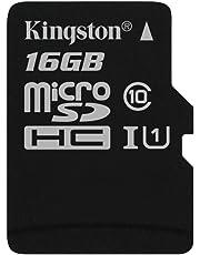 Kingston SDCS/16GBSP - MicroSD Canvas Select velocidades de UHS-I Clase 10 de hasta 80 MB/s Lectura (sin Adaptador SD)