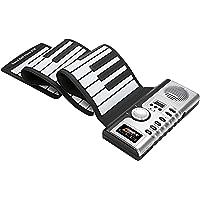 Lujex 61 Touches Piano Claviers Electronique Flexible Souple Roll up Portable Pliable Haut-Parleur Intégré pour Débutants
